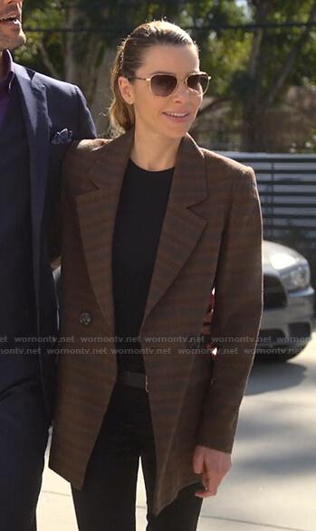 Chloe's brown plaid blazer on Lucifer