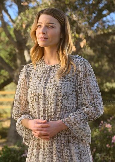 Chloe's floral chiffon midi dress on Lucifer