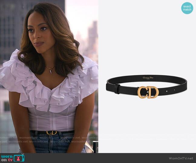 Christian Dior Saddle Belt worn by Whitney Green (Amber Stevens West) on Run the World