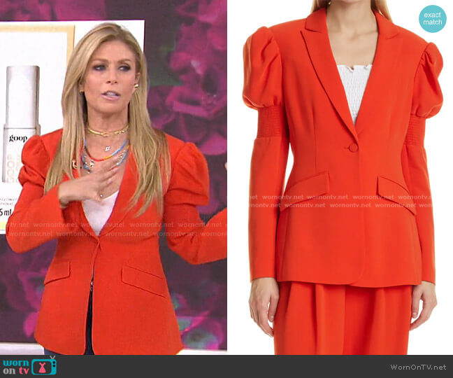 Starla Puff Sleeve Blazer by Cinq a Sept worn by Jill Martin  on Today