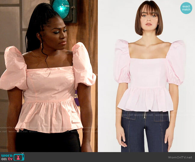 Cinq a Sept Maura Top worn by Harper (Laci Mosley) on iCarly