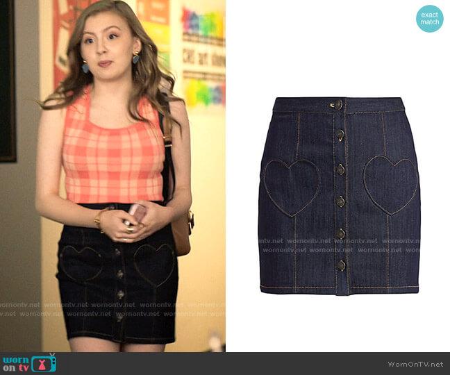 Cinq a Sept Vivien Skirt worn by Lake Meriwether (Bebe Wood) on Love Victor