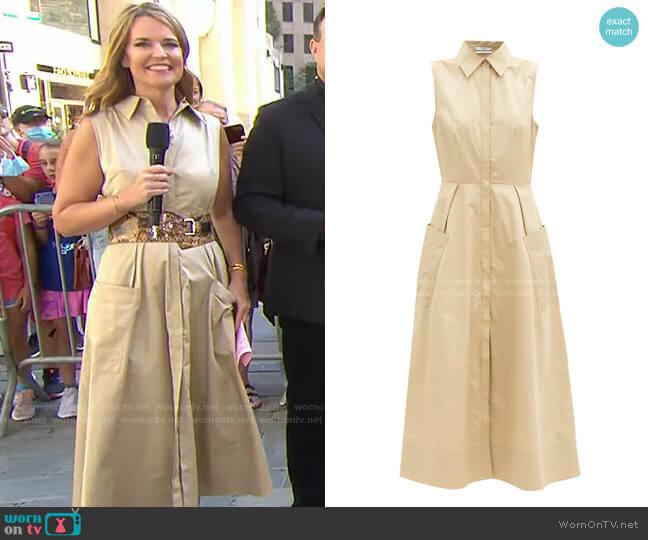 Cotton-Poplin Midi Shirt Dress by Co worn by Savannah Guthrie  on Today