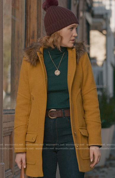 Corinne's yellow coat on The Republic of Sarah