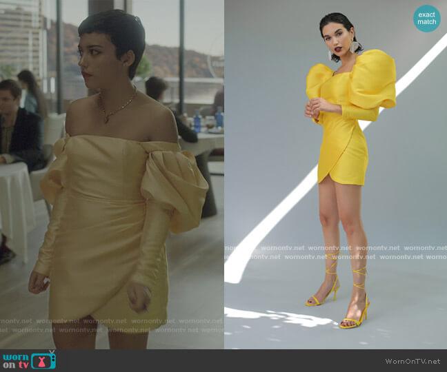 Vestido Kate Dress by Cristina Garcia worn by Ari Blanco (Carla Diaz) on Elite