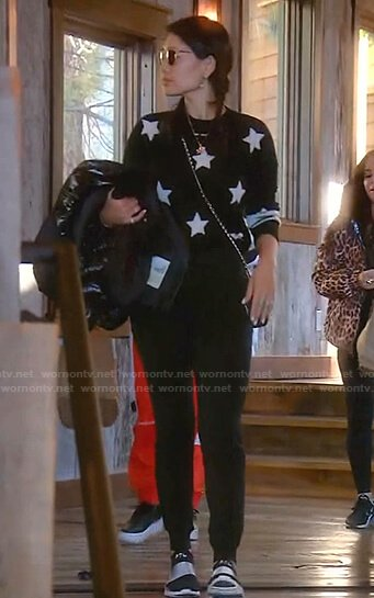 Crystal's black star sweater on The Real Housewives of Beverly Hills