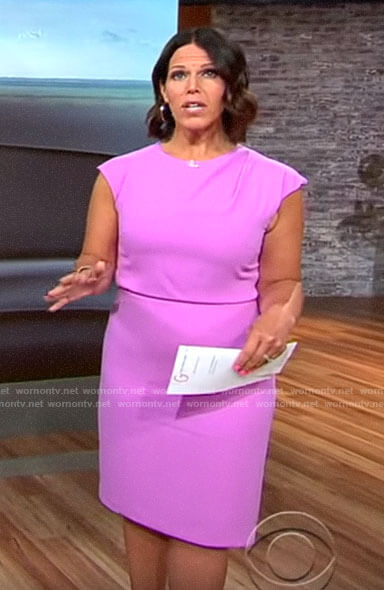 Dana Jacobson's pink dress on CBS This Morning
