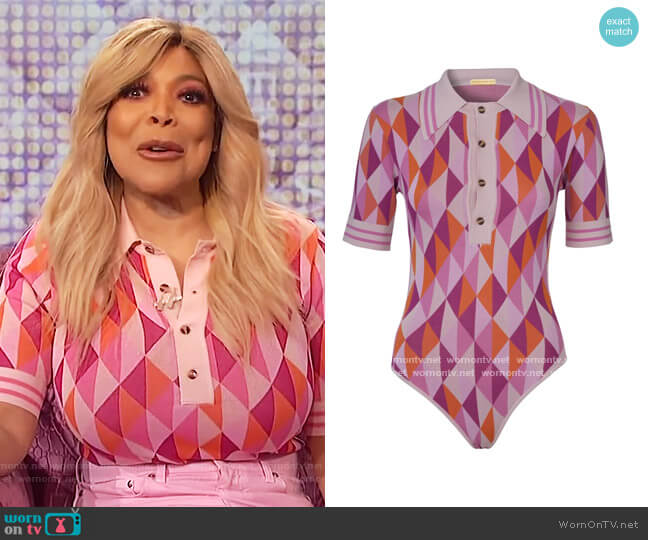 Meg Bodysuit by Dodo Bar Or worn by Wendy Williams  on The Wendy Williams Show