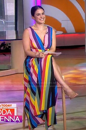 Danna's rainbow stripe maxi dress on Today