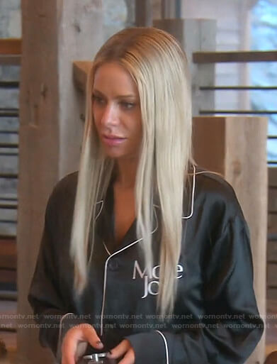 Dorit's black More Joy Pajamas on The Real Housewives of Beverly Hills