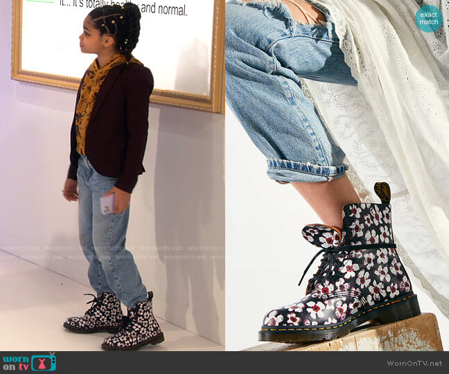 Dr Martens 1460 Pascal Pansy Fayre worn by Millicent (Jaidyn Triplett) on iCarly