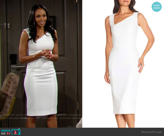 Dress the Population Remi Dress worn by Amanda Sinclair (Mishael Morgan) on The Young & the Restless