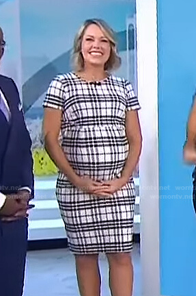 Dylan's white plaid maternity dress on Today