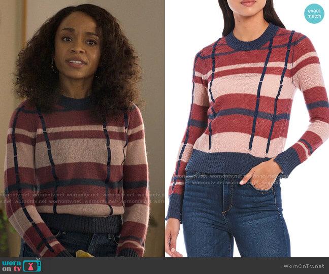 Ella Moss Denise Sweater worn by Mia Brooks (Rachel Hilson) on Love Victor