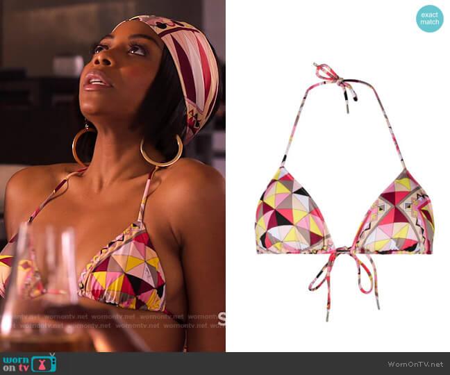 Emilio Pucci Bes Print Triangle Bikini worn by Renee Ross (Bresha Webb) on Run the World