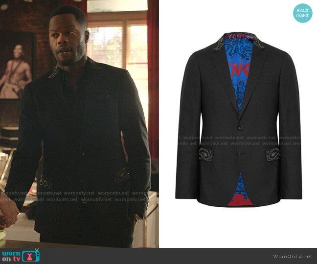 Embellished Blazer by Etro worn by Jeff Colby (Sam Adegoke) on Dynasty