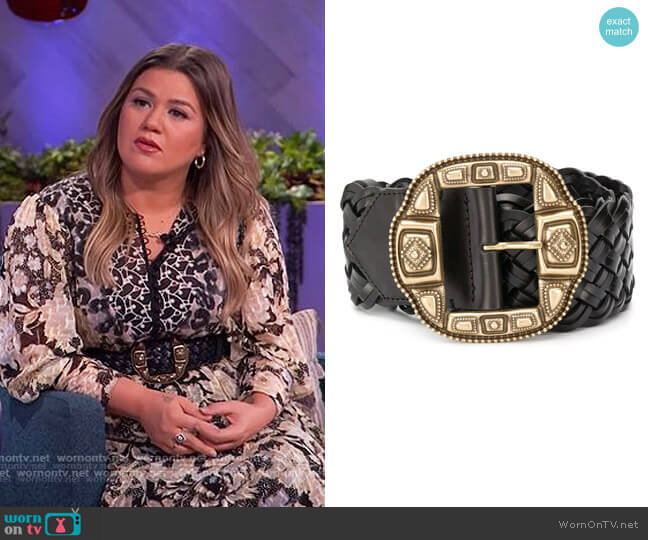 Wide Woven Belt by Etro worn by Kelly Clarkson  on The Kelly Clarkson Show