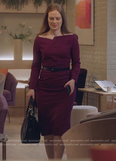 Jane's black metallic floral mini dress on The Bold Type