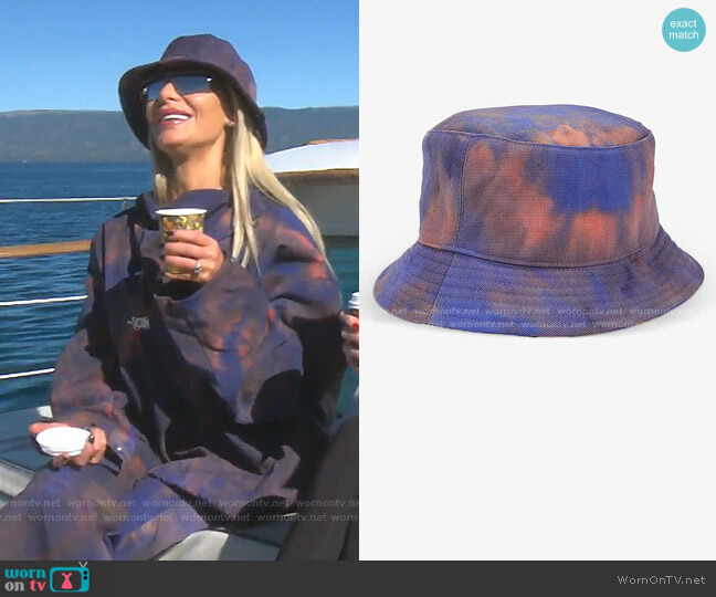 Tie-Dye Oversized Shell Bucket Hat by Fenty worn by Dorit Kemsley  on The Real Housewives of Beverly Hills