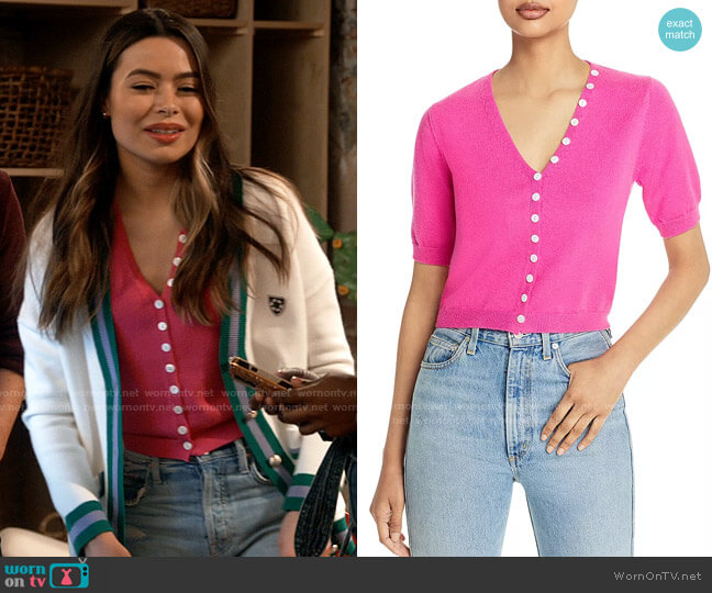 Fore Puff Sleeve Cardigan worn by Carly Shay (Miranda Cosgrove) on iCarly