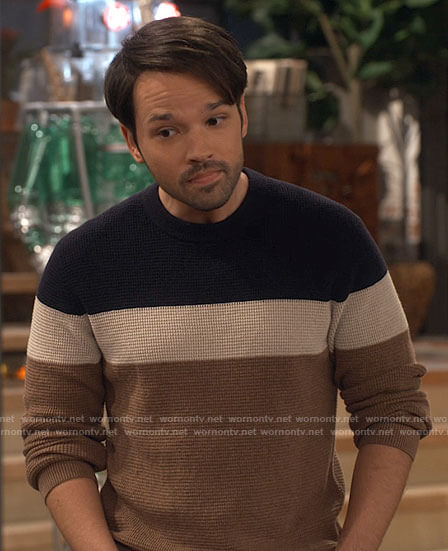 Freddie's colorblock sweater on iCarly
