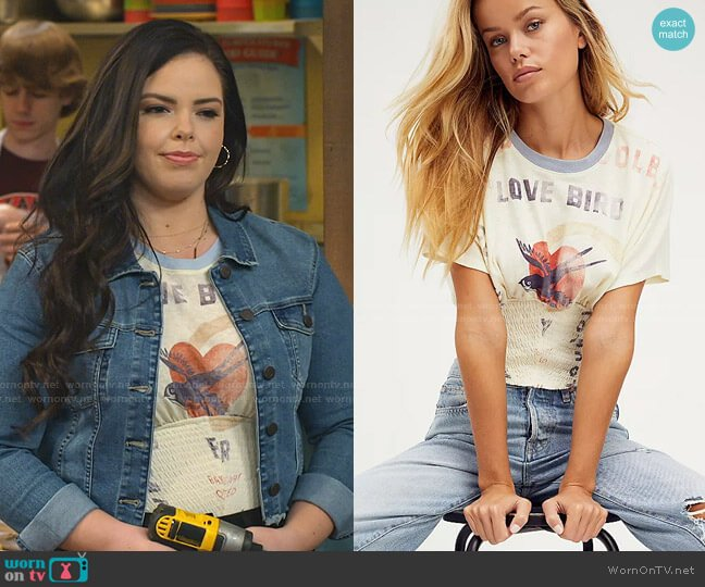 Day Off Tee by Free People worn by Lou Hockhauser (Miranda May) on Bunkd
