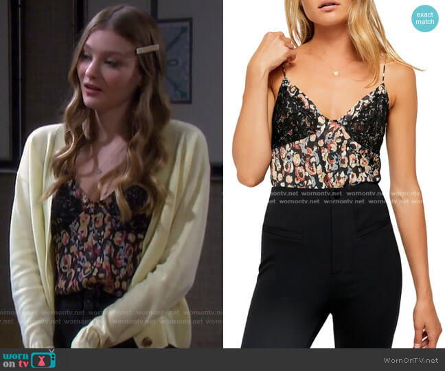 Little Dreams Camisole by Free People worn by Alice Caroline Horton (Lindsay Arnold) on Days of our Lives