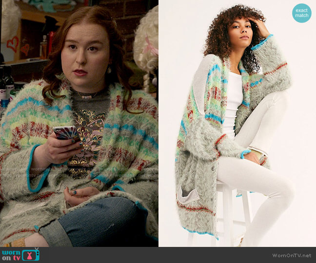 Free People Fair Weather Cardigan worn by Ashlyn (Julia Lester) on High School Musical The Musical The Series