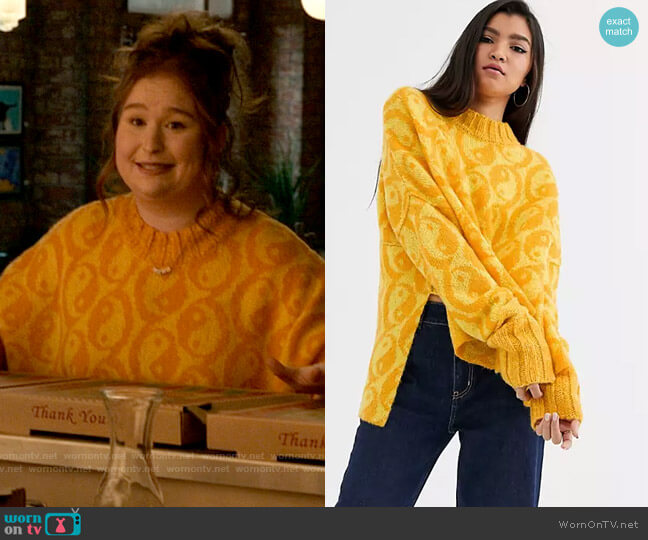 Free People Yin Yang Sweater worn by Ashlyn (Julia Lester) on High School Musical The Musical The Series