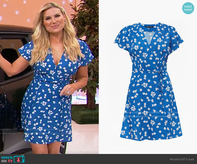 French Connection Verona Floral Wrap Dress worn by Rachel Reynolds  on The Price is Right