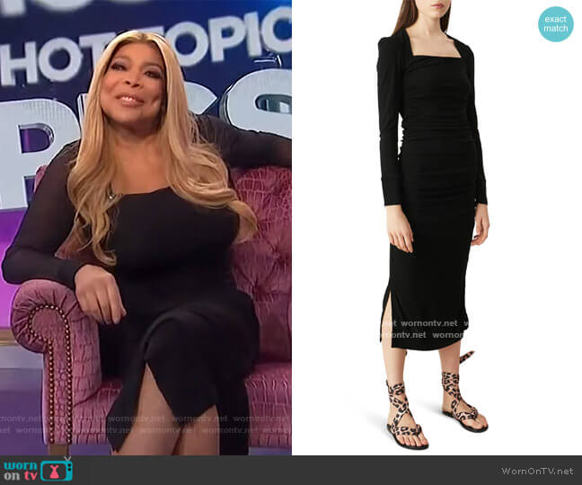 Dotted Mesh Dress by Ganni worn by Wendy Williams  on The Wendy Williams Show