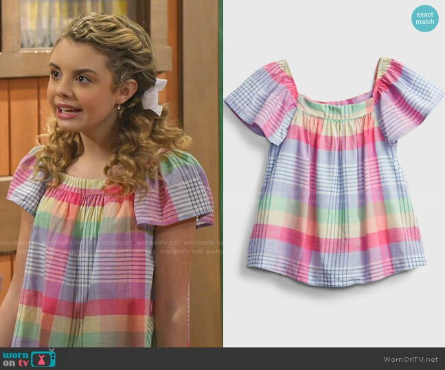 Plaid Shirt by Gap worn by Destiny Baker (Mallory James Mahoney) on Bunkd