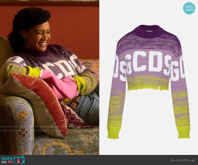 GCDS Logo Degrade Sweater worn by Sondi Hill (Corbin Reid) on Run the World