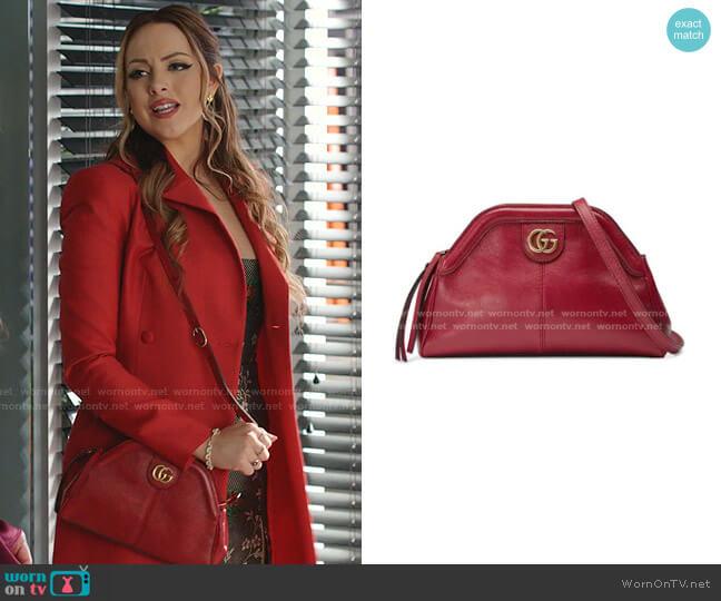 RE BELLE Small Shoulder Bag by Gucci worn by Fallon Carrington (Elizabeth Gillies) on Dynasty
