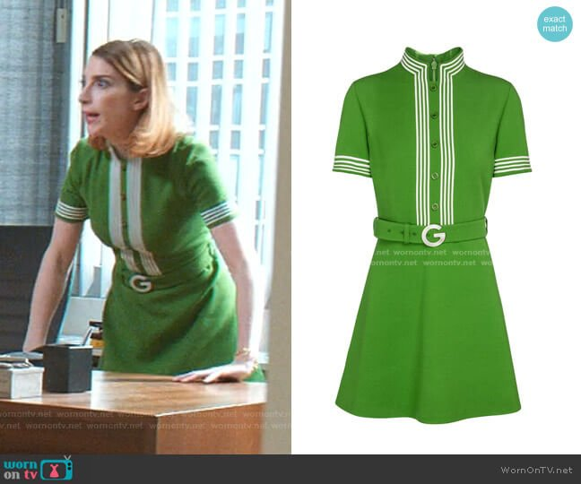 Belted Crepe Dress by Gucci worn by Lauren (Molly Bernard) on Younger