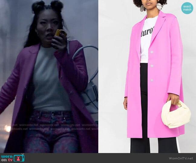 Harris Wharf Pink Coat worn by Mary Hamilton (Nicole Kang) on Batwoman