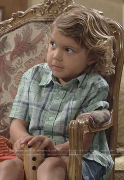 Harrison's green plaid shirt on The Young and the Restless