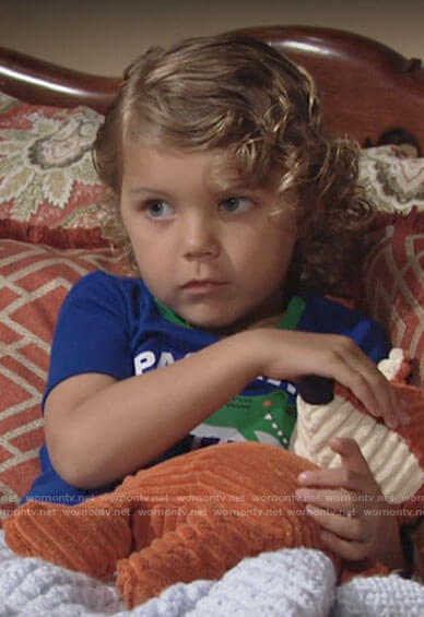 Harrison's Past My Bedtime crocodile pajamas on The Young and the Restless