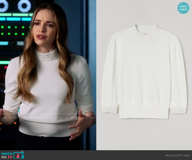 H&M Beaded Sweater worn by Caitlin Snow (Danielle Panabaker) on The Flash