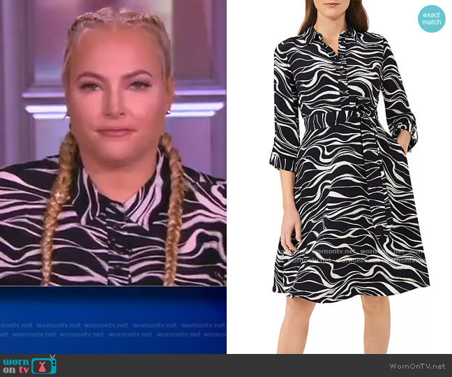 Clarice Shirt Dress by Hobbs London worn by Meghan McCain  on The View
