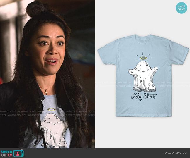 Holey Sheet Classic T-Shirt by Lili Batista at Redbubble worn by Ella Lopez (Aimee Garcia) on Lucifer