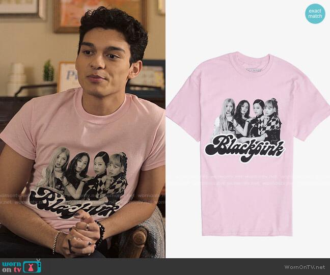 Hot Topic Blackpink Group T-shirt worn by Rahim (Anthony Keyvan) on Love Victor