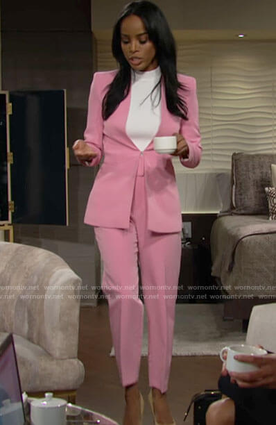 Imani's pink suit on The Young and the Restless