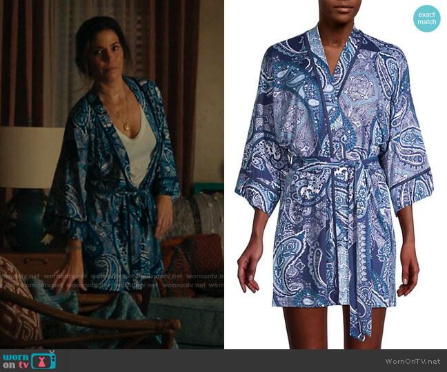 In Bloom Paisley-Print Robe worn by Isabel Salazar (Ana Ortiz) on Love Victor