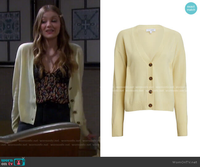 Roya Cashmere Cardigan by Intermix worn by Alice Caroline Horton (Lindsay Arnold) on Days of our Lives