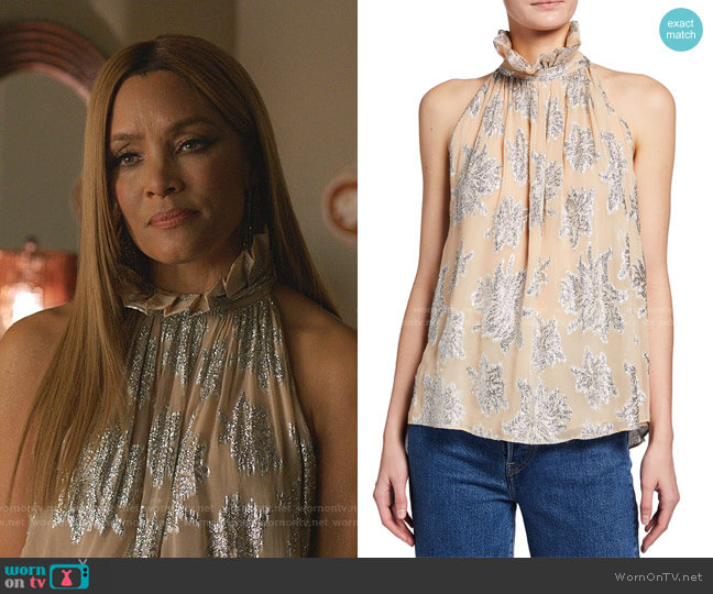 Lazana Top by Iro worn by Dominique Deveraux (Michael Michele) on Dynasty