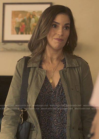 Isabel's army jacket on Love Victor