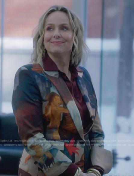 Jacqueline's floral print blazer on The Bold Type