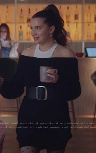 Jane's black layered dress on The Bold Type