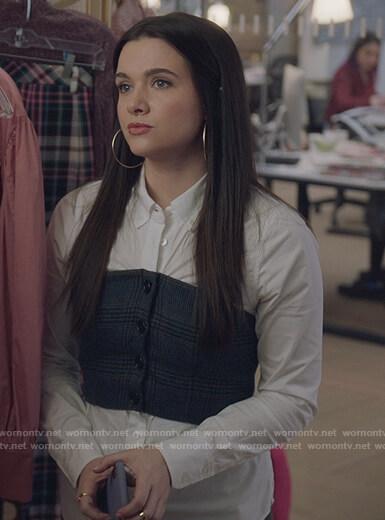 Sutton's multi stripe sweater on The Bold Type
